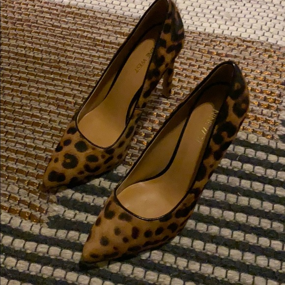 nine west tatiana pumps leopard